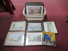 Anton Peck - Five Prints, six London location examples. Bunty's annual.