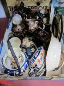 Imari Pattern Pottery Tea and Tableware (damages):- One Box.