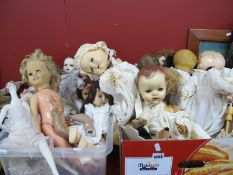 Daisy Kingdom, Pedigree, Alberon, Rosebud and other dolls (some with faults):- Two Boxes.