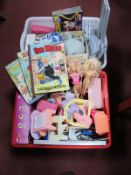 An Assorted Collection of Toys, Annuals, to include Barbie Dolls and accessories, Modern Star Wars