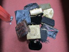 Jemco Evening Bag, Jane Shilton and one other reptile skin bags, etc. (12) :- One Tray