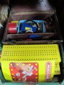Meccano - quantity in 'Meccano' boxes and leather case:- One Box