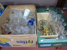Ceiling Lights, basket, drinking glasses, etc:- Two Boxes