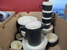 Hornsea 'Ebony' Dinner ware, of twenty eight pieces including two tureens.