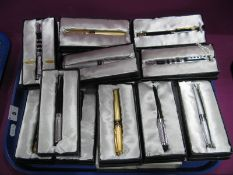 Eleven Modern Stylish Vicci Pens, boxed:- One Tray