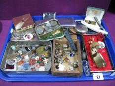 Doncaster Member 110 Enamel Medallion (1984), enamel and other badges, assorted coins, gent's