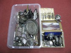 Assorted Plated Ware, including boxed and loose cutlery, toast rack, table lighters, modern