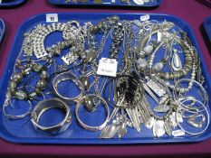 A Selection of Modern Costume Jewellery, including ornate necklaces, bangles, bracelets, etc:- One
