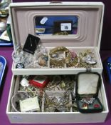 A Mixed Lot of Assorted Costume Jewellery, including bangle dress rings, brooch, earrings, chains