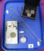 """Two Star Shaped Medallion Style Pendants, """"The France and Germany Star"""" and """"The 1939-1945"""" Star,"""