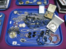 A Small Selection of Modern Costume Jewellery, including a sliding charm style bracelet, similar