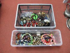 A Large Mixed Lot of Assorted Modern Costume Bead and Other Necklaces, etc:- One Box