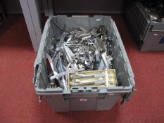 A Quantity of Plated Cutlery, predominately table knives, etc, including Trafalgar Harrison Fisher