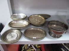 """Plated Serving Dishes, rose bowl """"Presented to W.Bro. A. Keith Orme W.M. The White Rose of York"""