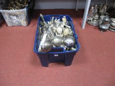 A Quantity of Plated Cutlery, including ladles, etc, Hill Bristol, Osborne, Potter, etc, in large