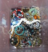 A Mixed Lot of Assorted Costume Jewellery, including bead necklaces, etc:- One Box