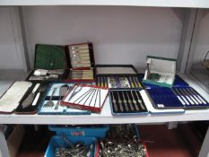 A Mixed Lot of Assorted Plated Cutlery, including matched set of lobster picks, fish knives and