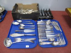 A Mixed Lot of Assorted Plated Cutlery, including Dubarry pattern, serving spoons, fish servers,