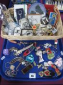 Border Collie and Other Dog Related Items, including key rings, hand painted pendant, badge, etc,