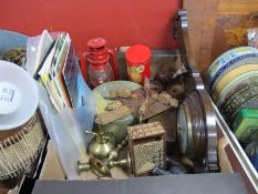 Wall Barometer, Renault, Beetle and Other Vehicle Brochures, circa 1960's, feeding birds toy,