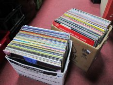 Records - 33rpms - Linda Ronstadt, OMD, Modern Romance, Drifters, Platters, Easy Listening etc:- Two