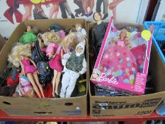 Barbie, Action Man, Star Wars and Other Plastic Toys:- Two Boxes