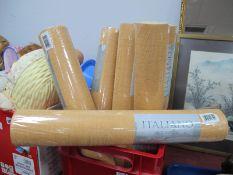 Wallpaper,' Italiano' eight rolls in sand colour.