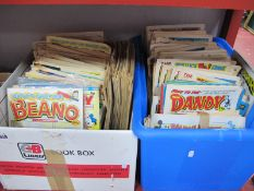Comics - Beano, Dandy, Mickey, Disney Mirror, some free gifts noted:- Two Boxes