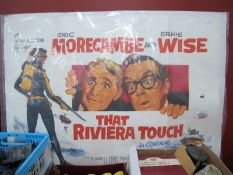 That Riviera Touch (1966) Quad Poster, starring Morecambe & Wise, printed by Charles Read, London,