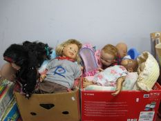 Dolls - A.D.G., Zapf Creations, Pico, Antionio Juan, Gotz, Hasbro black and other dolls:- Two Boxes