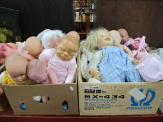 Dolls - A.D.G., Zapf Creations, Gotz, Brigitte Lnnam and many other dolls:- Two Boxes
