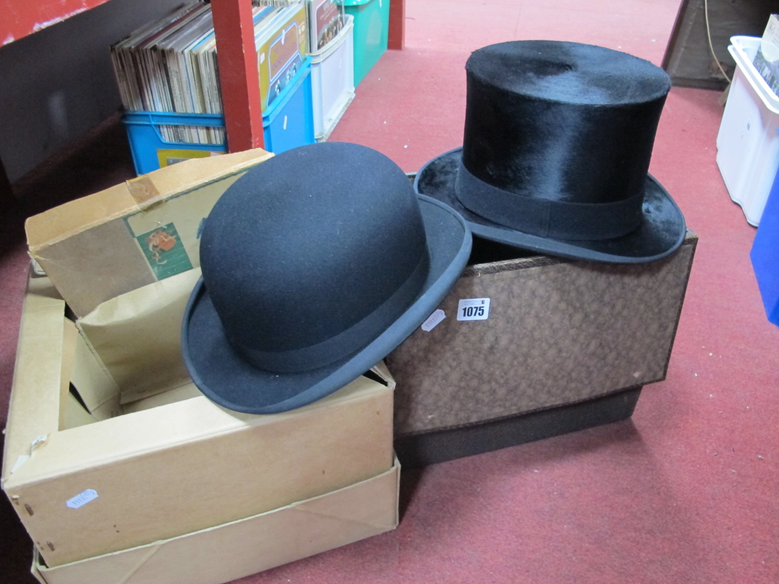 Austin Reed Black Top Hat 15 5cm Wide In Case Dunn Co Black Bowler Hat 15 5cm Wide In Case