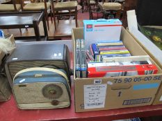 War and Aircraft Related Books and DVD's, music CD'sL:- One Box plus Bush bakelite cased and Alba