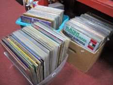 Approximately 250 LP's, with titles and artists spanning the decades:- Three Boxes