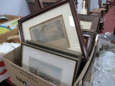 Wentworth House, Wilton House and Other Prints, many oak framed. (11)