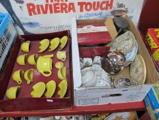 Gibson's Teapot, silvered hot water jug, Devon tea port, breakfast tray, etc:- One Box, plus boxed