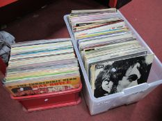 Over 180 LP's, in clean condition covering a variety of genres:- Two Boxes