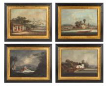 A GROUP OF FOUR CHINA TRADE PAINTINGS, CIRCA 1830