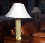 PAIR OF FAUX-BAMBOO TABLE LAMPS