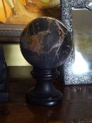 GRAND TOUR GRAINED BRECCIA MARBLE LIBRARY SPHERE