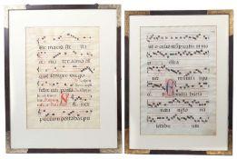 Zwei Notenblätter