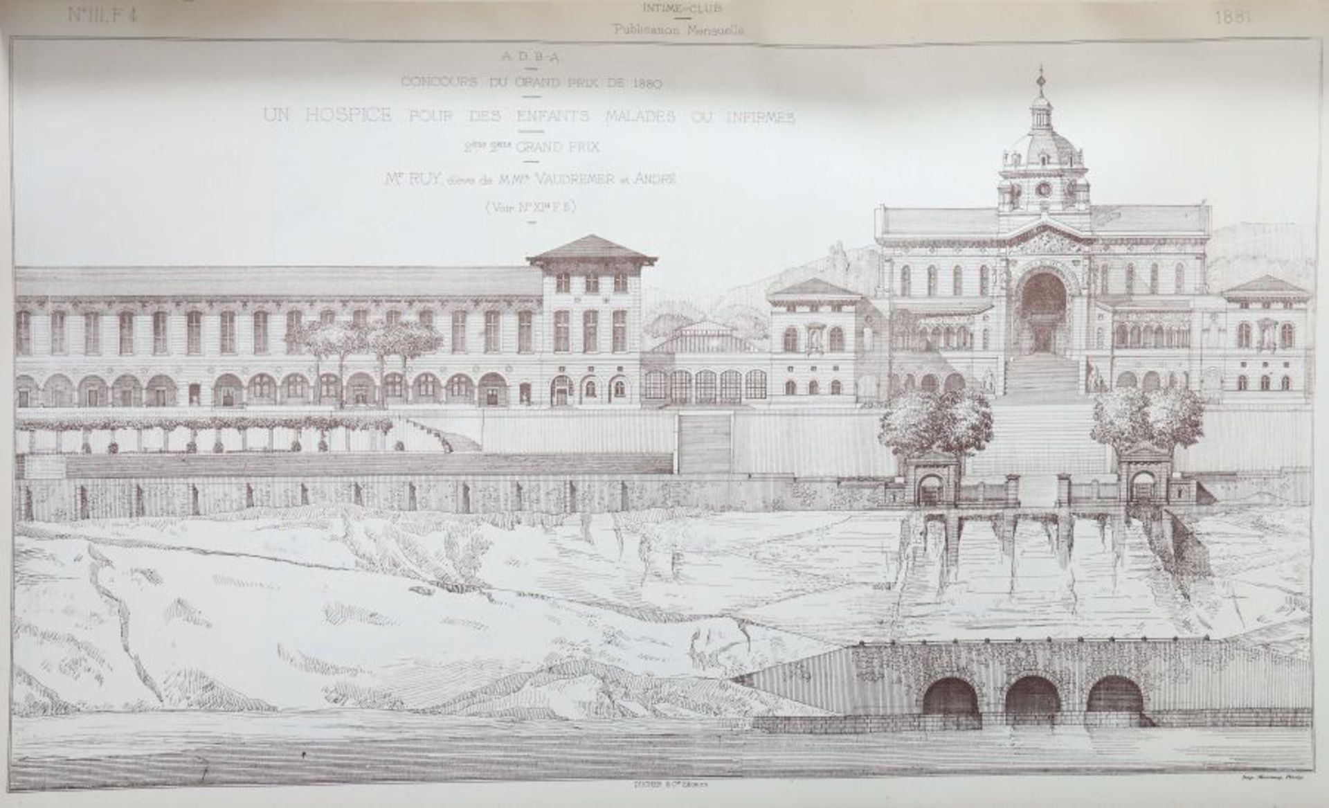 Intime-Club Croquis d'architecture, Publication mensuelle, Paris, 1878/81/84, 3 Bde. (12./15./18. - Bild 5 aus 6