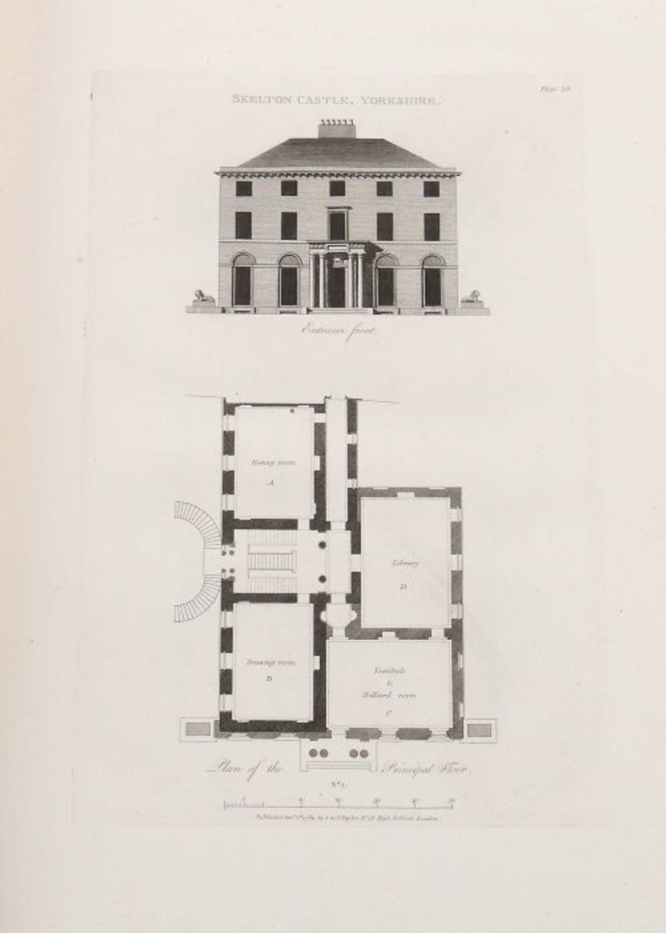 Soane, John Plans, Elevations and Sections of Buildings: executed in the counties of Norfolk, - Bild 6 aus 8