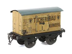 "Kühlwagen Bing, ""Tucherbräu Nürnberg"", Blech lithografiert, 2 Doppeltüren zum Öffnen mit"