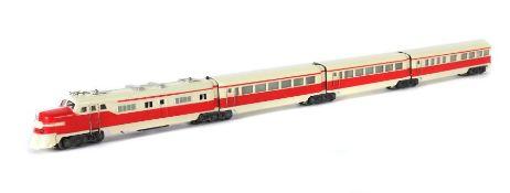 Schnelltriebwagenzug Märklin, Spur H0; ST 800 R, wohl Typ 3 oder 4 BZ dann ca. 1950-51, 4-teilig (