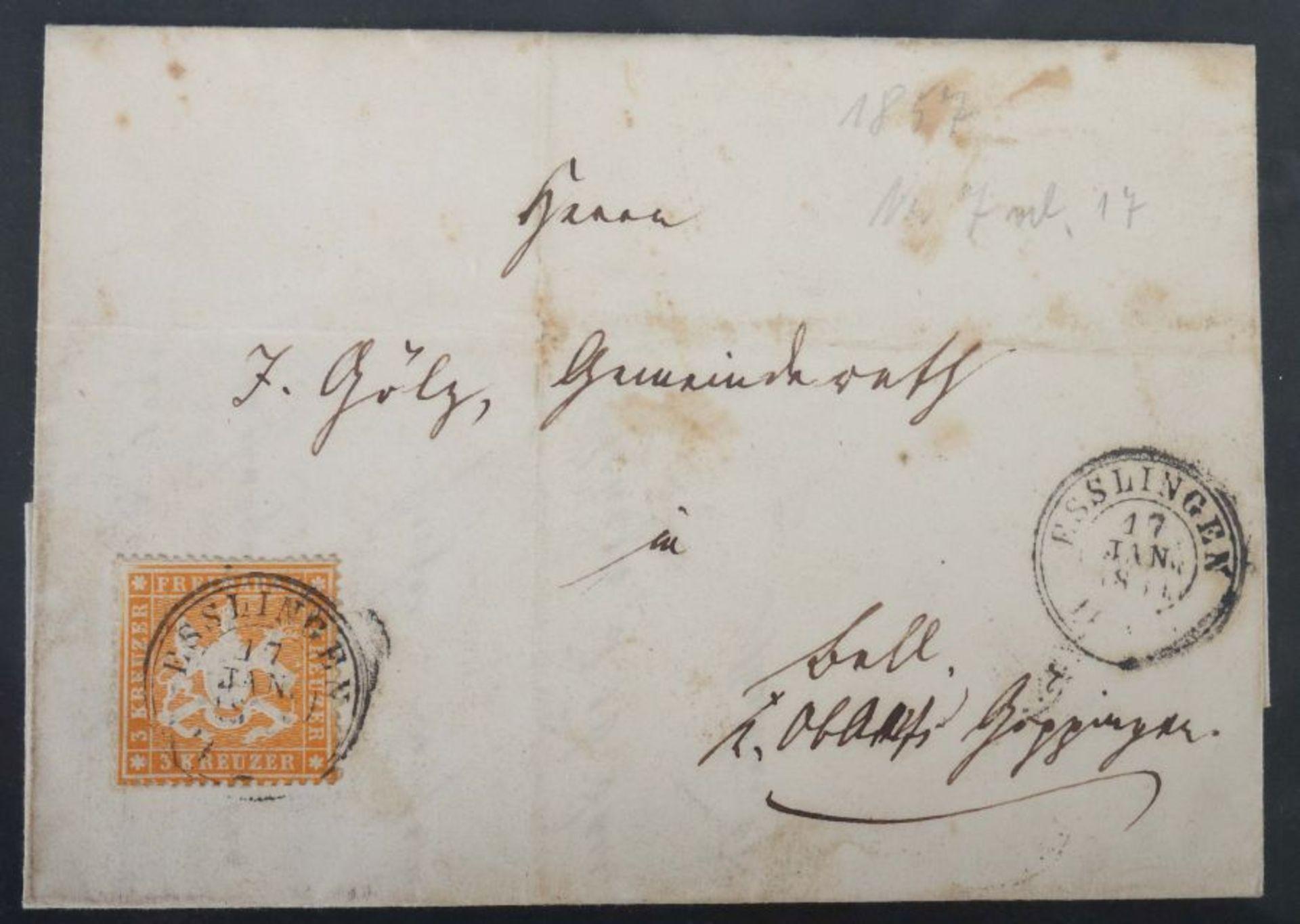 Kleine Postkarten-Sammlung mit ca. 10 handgeschriebenen Briefen um ca. 1900, ca. 55 Postkarten - Bild 5 aus 7