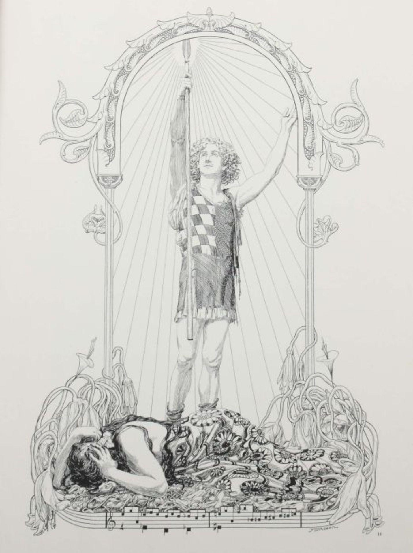 Stassen, Franz (Illustr.) Richard Wagner - Parsifal - 15 Bilder zu Richard Wagners Bühnenweihfest, - Bild 4 aus 6