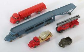 5 Fahrzeuge Wiking, 1:87, meist 1960-70er Jahre, 1 x 235 Esso-Tanklastzug Henschel Bimot, ohne