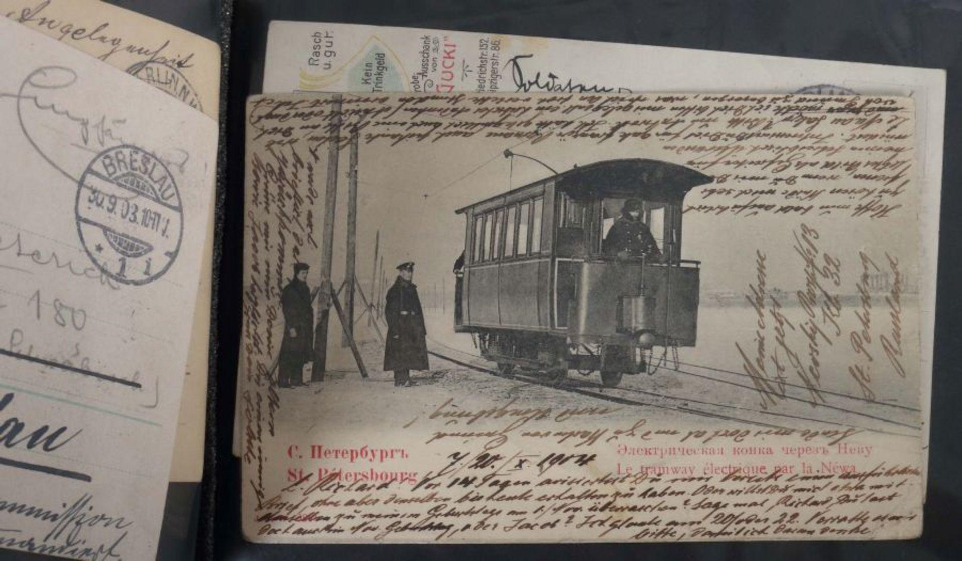 Kleine Postkarten-Sammlung mit ca. 10 handgeschriebenen Briefen um ca. 1900, ca. 55 Postkarten - Bild 6 aus 7