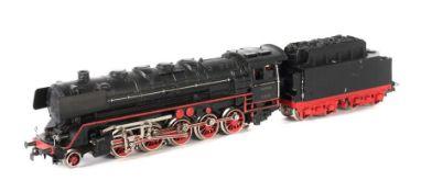Dampflok m. Tender Märklin, Spur H0, G 800/3, Guss, schwarz, BR 44 der DB, BZ 1954, Tenderaufbau